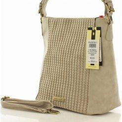 Klasyczna torebka z plecionką szara KYLIE. Szare torebki klasyczne damskie marki Monnari, z materiału, średnie. Za 169,00 zł.