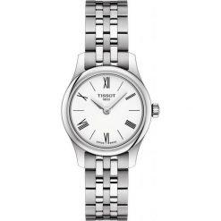PROMOCJA ZEGAREK TISSOT T-Classic T063.009.11.018.00. Białe zegarki męskie TISSOT, ze stali. W wyprzedaży za 1346,40 zł.
