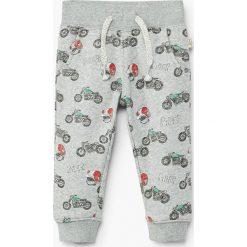 Mango Kids - Spodnie dziecięce Mateopri 80-104 cm. Szare spodnie chłopięce Mango Kids, z bawełny. Za 49,90 zł.
