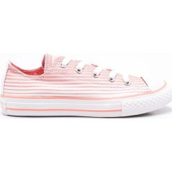 Converse - Tenisówki dziecięce. Szare buty sportowe dziewczęce marki Converse, z materiału, na sznurówki. W wyprzedaży za 119,90 zł.