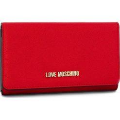 Duży Portfel Damski LOVE MOSCHINO - JC5553PP06LQ0500 Rosso. Czerwone portfele damskie marki Love Moschino, ze skóry ekologicznej. Za 369,00 zł.