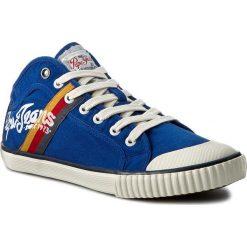 Trampki PEPE JEANS - Industry Teen PMS30228 Prussian 578. Niebieskie tenisówki męskie Pepe Jeans, z gumy. W wyprzedaży za 149,00 zł.