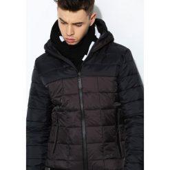 Czarno-Brązowa Kurtka Step Forward. Czarne kurtki męskie pikowane marki Born2be, l, z aplikacjami, z dresówki. Za 84,99 zł.