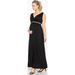 Długie sukienki: Długa sukienka ciążowa z błyszczącą gumką
