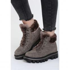 Brązowe Traperki Crayon. Brązowe buty zimowe damskie marki NEWFEEL, z gumy. Za 89,99 zł.