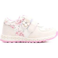 Białe Buty Sportowe Contour. Białe buty sportowe dziewczęce marki Born2be, z materiału, z okrągłym noskiem. Za 69,99 zł.