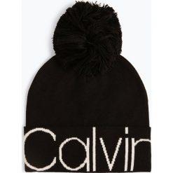Calvin Klein - Czapka damska, czarny. Czarne czapki damskie marki Calvin Klein. Za 199,95 zł.