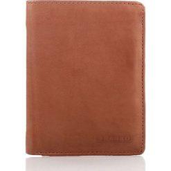 Portfele męskie: Skórzany elegancki portfel męski Franko Koniakowy
