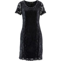 Sukienki balowe: Sukienka koronkowa bonprix czarny