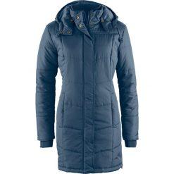 Długa kurtka pikowana, ocieplana bonprix ciemnoniebieski. Niebieskie kurtki damskie pikowane bonprix. Za 189,99 zł.
