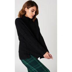 Golfy damskie: Rut&Circle Sweter z dzianiny Marielle – Black