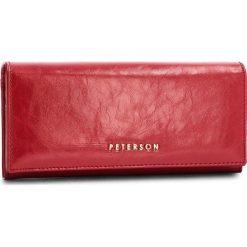 Duży Portfel Damski PETERSON - 467-14-03-01 Red. Czerwone portfele damskie Peterson, ze skóry. Za 139,00 zł.
