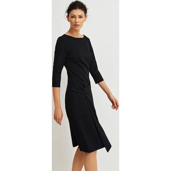 c8a56060dd1e86 Simple - Sukienka - Szare sukienki damskie Simple, w paski, z ...