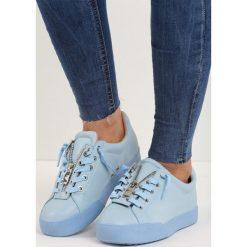 Niebieskie Buty Sportowe Zip-On. Czarne buty skate męskie marki Pull&Bear. Za 79,99 zł.