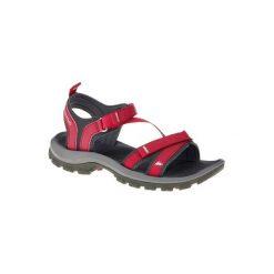 Sandały turystyczne Arpenaz 100 damskie. Czerwone sandały damskie marki Casu, w ażurowe wzory, na obcasie. Za 89,99 zł.
