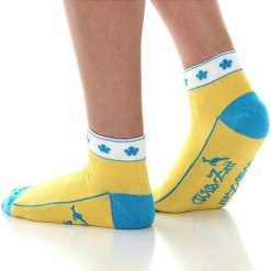 Skarpetki damskie: Skarpety w kolorze żółtym