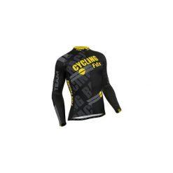 Bluza rowerowa męska FDX Pro Cycling Long Sleeve Thermal Jersey M. Czarne bluzy męskie rozpinane marki FDX, l, z nadrukiem, z jersey. Za 219,90 zł.