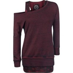 Bluzy damskie: RED by EMP Cut Me Loose Bluza damska bordowy