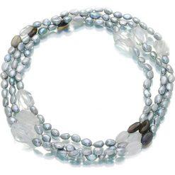 Naszyjniki damskie: Naszyjnik z perłami i kamieniami – (D)150 cm
