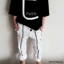 Odzież chłopięca: Spodnie długie black&white stripes
