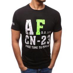 T-shirty męskie z nadrukiem: T-shirt męski z nadrukiem czarny (rx2778)