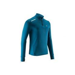 Bluza do biegania RUN WARM męska. Czerwone bluzy męskie marki KALENJI, m, z elastanu, z długim rękawem, długie. Za 34,99 zł.