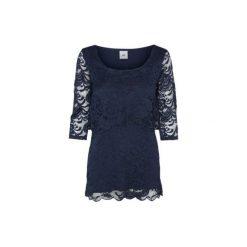 Mama licious  Koszulka dla kobiet karmiących MLMIVANE navy blazer - niebieski - Gr.Odzież ciążowa. Niebieskia bluzki ciążowe Mama Licious, w koronkowe wzory, z bawełny, z krótkim rękawem. Za 179,00 zł.
