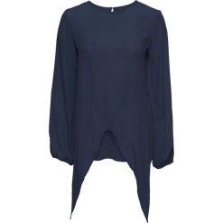 Bluzki damskie: Bluzka z przewiązaniem i wycięciami bonprix ciemnoniebieski
