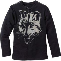 Odzież chłopięca: Shirt z długim rękawem i ćwiekami bonprix czarny