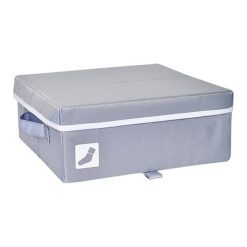 Pudełko w kolorze szarym na skarpetki - (S)30,5 x (W)12 x (G)30,5 cm. Szare skarpetki męskie marki Esprit. W wyprzedaży za 35,95 zł.