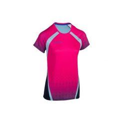 Koszulka do siatkówki V500 damska różowa. Czarne t-shirty damskie marki KIPSTA, m, z elastanu, z długim rękawem, na fitness i siłownię. Za 49,99 zł.