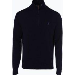Polo Ralph Lauren - Męski sweter z wełny merino, niebieski. Niebieskie swetry klasyczne męskie Polo Ralph Lauren, l, z wełny, polo. Za 759,95 zł.