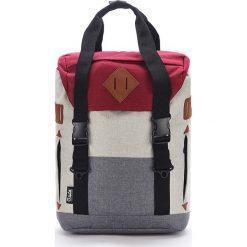 Plecaki męskie: Plecak w kolorze szaro-czerwonym – 33 x 44 x 18 cm