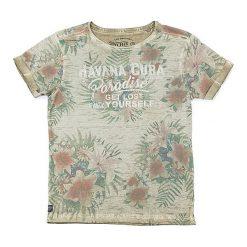 T-shirty chłopięce z nadrukiem: Koszulka w kolorze beżowym
