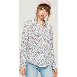 Koszula - Niebieski. Niebieskie koszule damskie marki Sinsay, l. Za 39,99 zł.