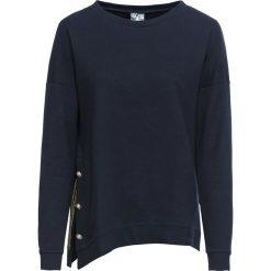Bluza dresowa bonprix ciemnoniebieski. Niebieskie bluzy rozpinane damskie bonprix, z dresówki. Za 84,99 zł.