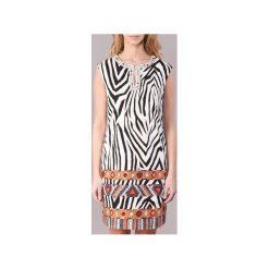 Sukienki krótkie Derhy  APARTE. Białe sukienki hiszpanki Derhy, m, z krótkim rękawem, mini. Za 359,20 zł.