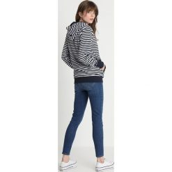 Bluzy damskie: Superdry BEACH TERRY ZIPHOOD Bluza rozpinana hurricane navy/chalk white