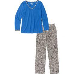 Piżama bonprix lodowy niebieski - leo. Niebieskie piżamy damskie bonprix. Za 59,99 zł.