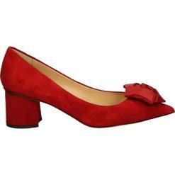 Czółenka - A5400 CAM ROS. Czerwone buty ślubne damskie Venezia, ze skóry. Za 359,00 zł.