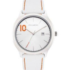 """Zegarki męskie: Zegarek kwarcowy """"Farsund"""" w kolorze białym"""