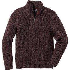 Sweter melanżowy ze stójką Regular Fit bonprix bordowy melanż. Czerwone golfy męskie marki bonprix, l, melanż, z dzianiny. Za 89,99 zł.