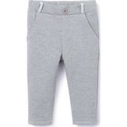 Spodnie typu jogpant. Szare spodnie dresowe dziewczęce La Redoute Collections, z bawełny. Za 48,26 zł.