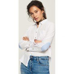Koszula z łatami na łokciach - Biały. Białe koszule damskie marki Sinsay, l. Za 49,99 zł.