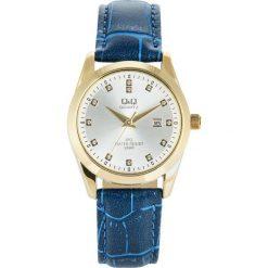 Zegarek Q&Q Damski QZ13-101 Klasyczny Cyrkonie granatowy. Niebieskie zegarki damskie Q&Q. Za 116,00 zł.
