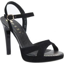 Czarne sandały szpilki skórzane Nessi 18384. Czarne sandały damskie Nessi, na szpilce. Za 179,99 zł.