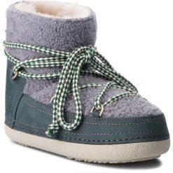 Buty INUIKII - Boot Curly 70101-16 Grey. Niebieskie buty zimowe damskie Inuikii, z nubiku. Za 1549,00 zł.