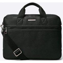 Tommy Hilfiger - Torba Essent. Czarne torby na laptopa marki TOMMY HILFIGER, z materiału. W wyprzedaży za 349,90 zł.