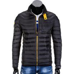 6d68692c98f7a Kurtka męska przejściowa pikowana C292 - czarna. Czarne kurtki męskie Ombre  Clothing