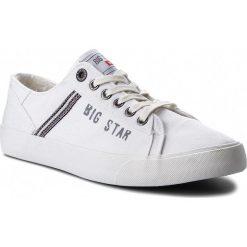 Tenisówki BIG STAR - AA174313 White. Białe tenisówki męskie BIG STAR, z gumy. W wyprzedaży za 109,00 zł.